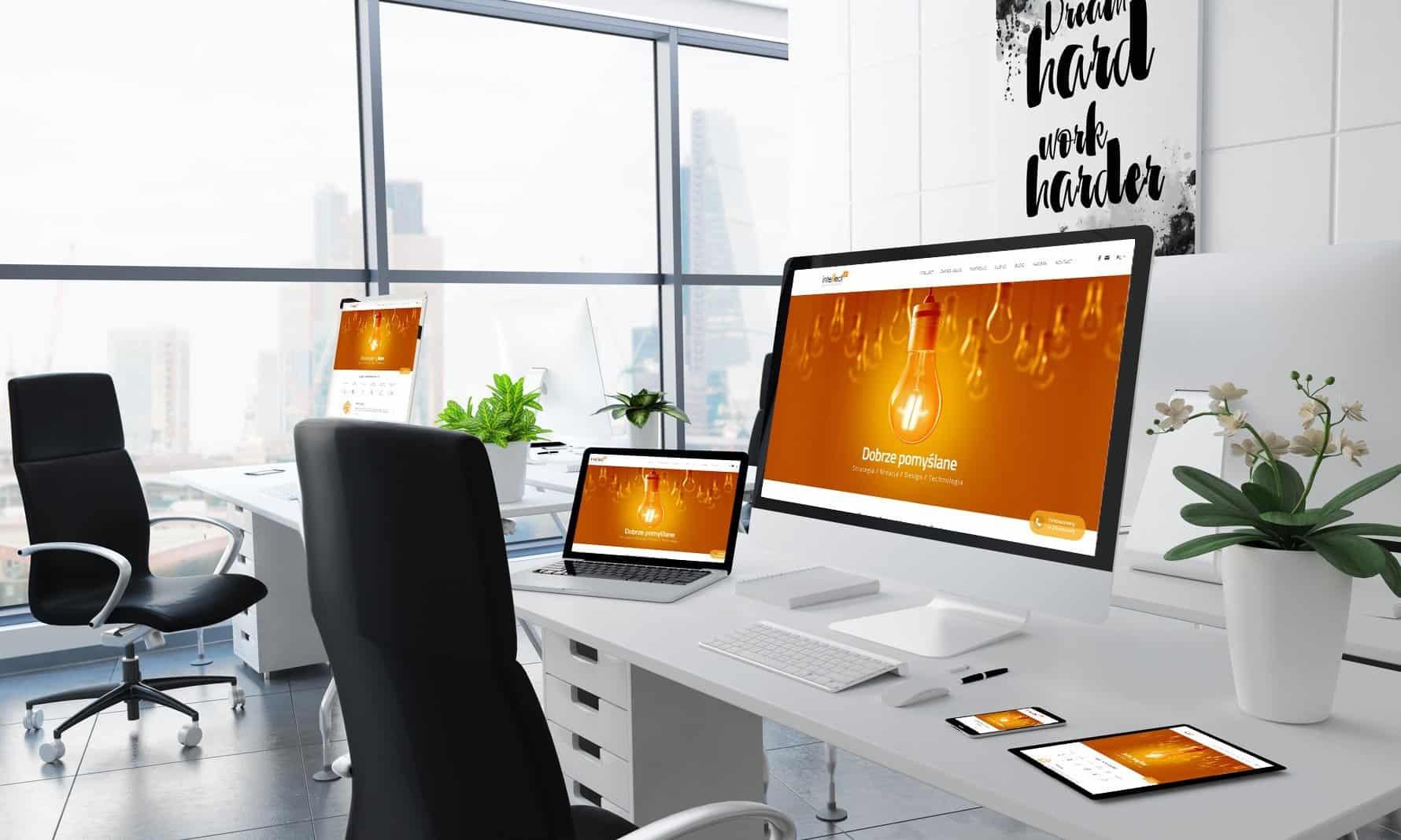 wyglad biura agencji interaktywnej