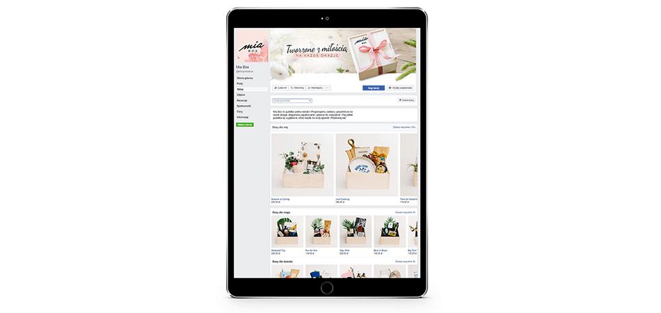 Sklep na Facebooku przygotowany dla klienta Intellect
