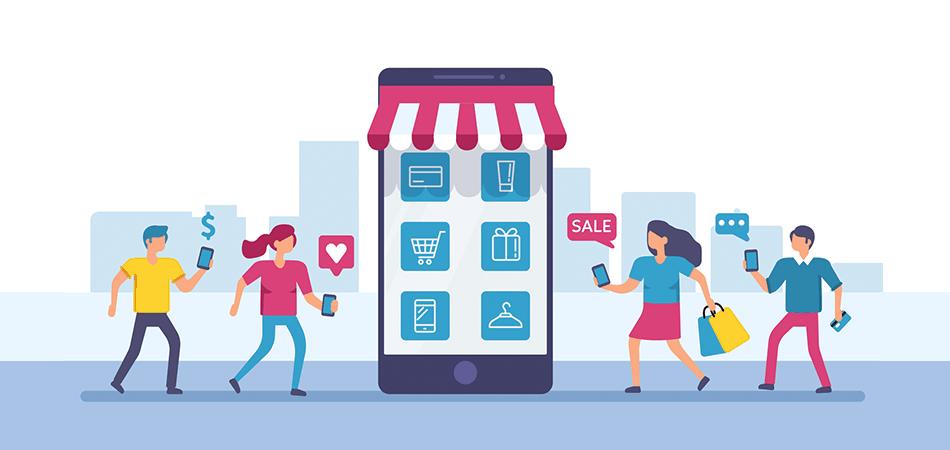 Infografika pokazująca konsumentów mobilnych