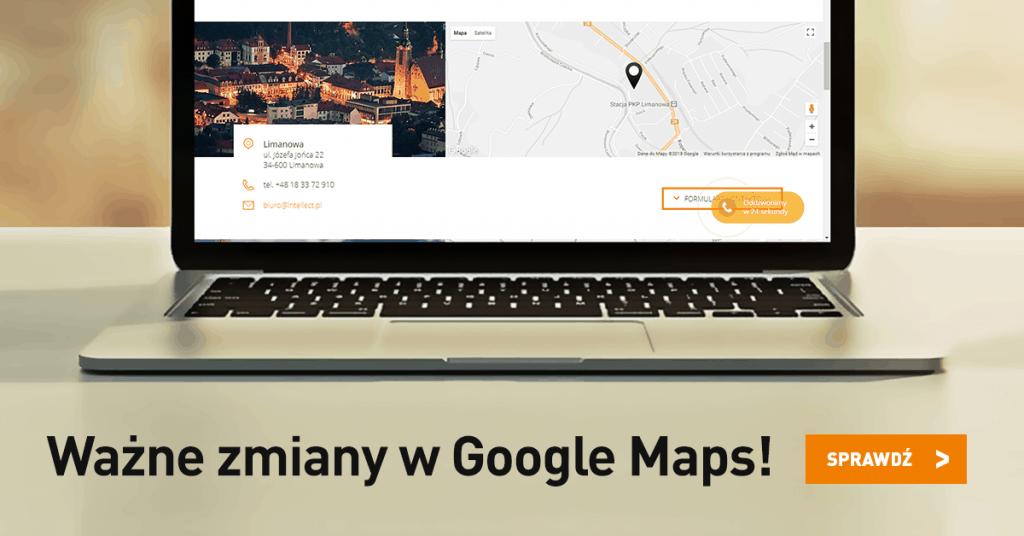 Zmiany w Google Maps - grafika tytułowa