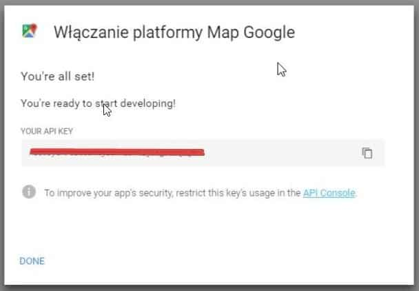 klucz api map google
