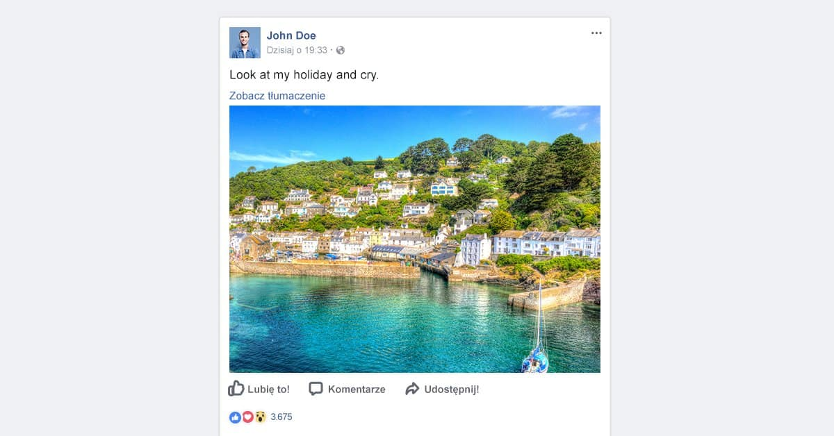 Wakacje na Facebooku