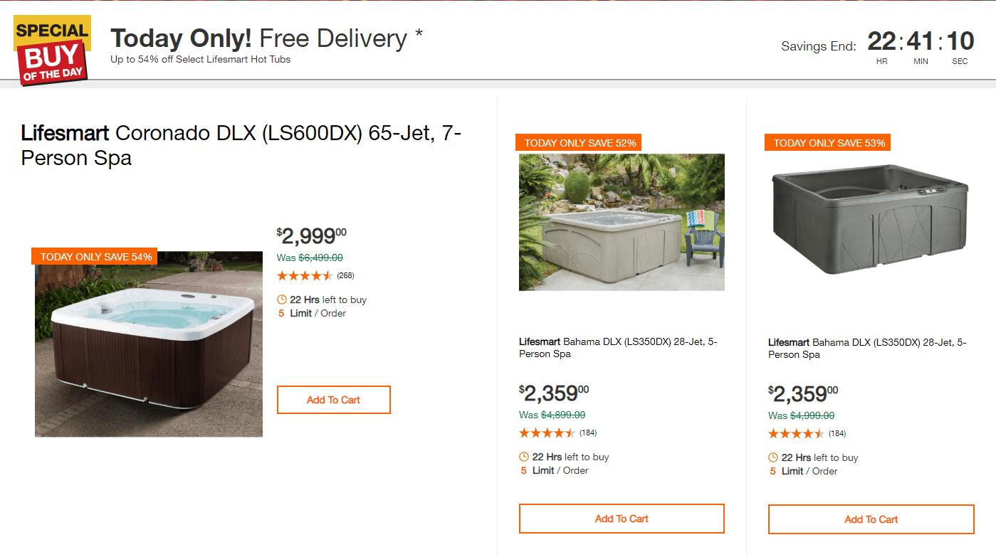 Zrzut ze strony The Home Depot - przykład szybkiej promocji na Black Friday