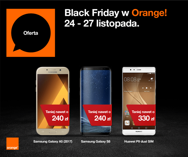 Black Friday w Orange - 24 do 27 listopada 2017