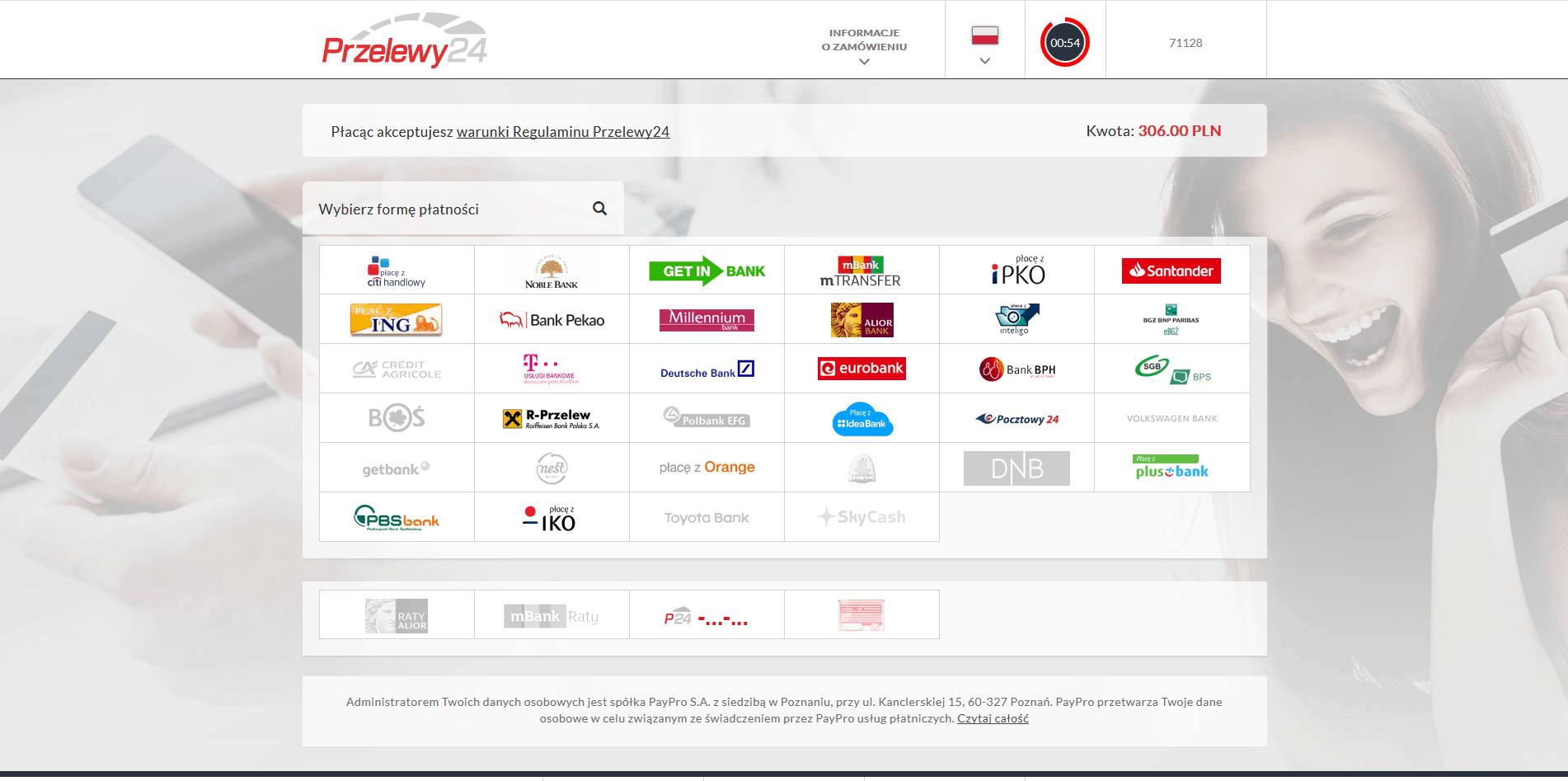 moduł płatności online