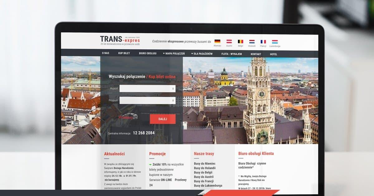 strona internetowa trans-expres