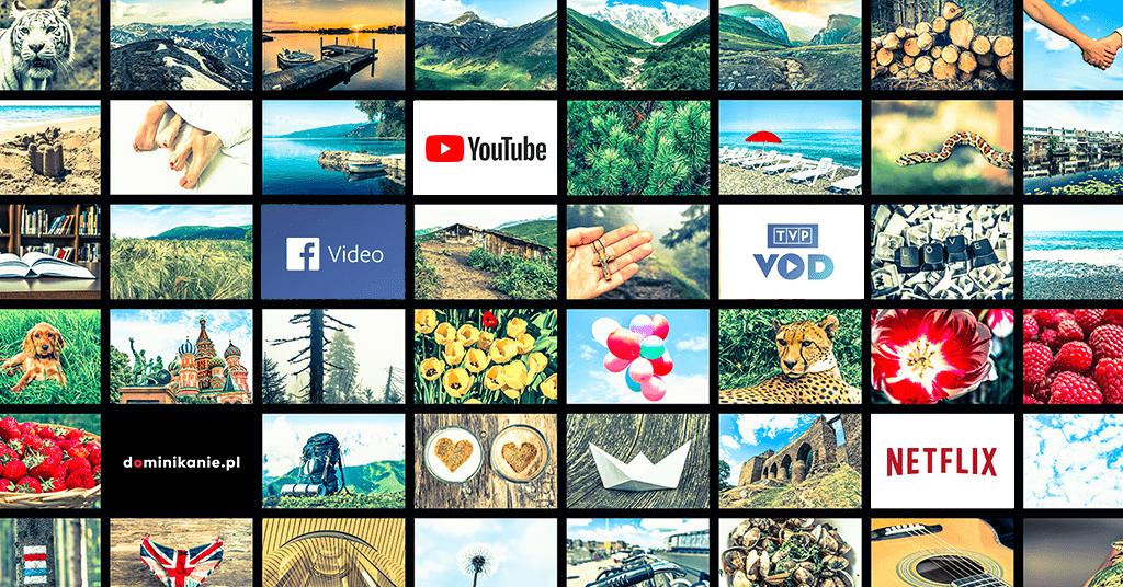 Infografika prezentująca popularne platformy VOD