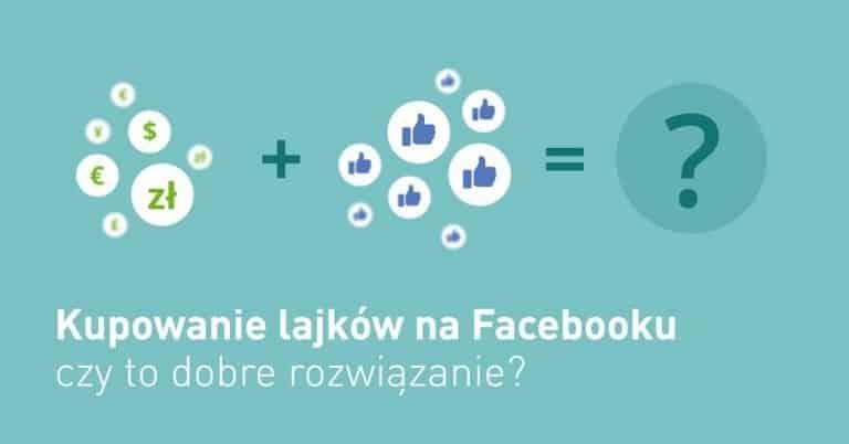 Infografika - kupowanie lajków. na Facebooku