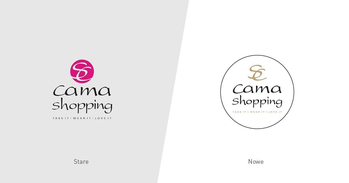 Rebranding logotypu Camashopping