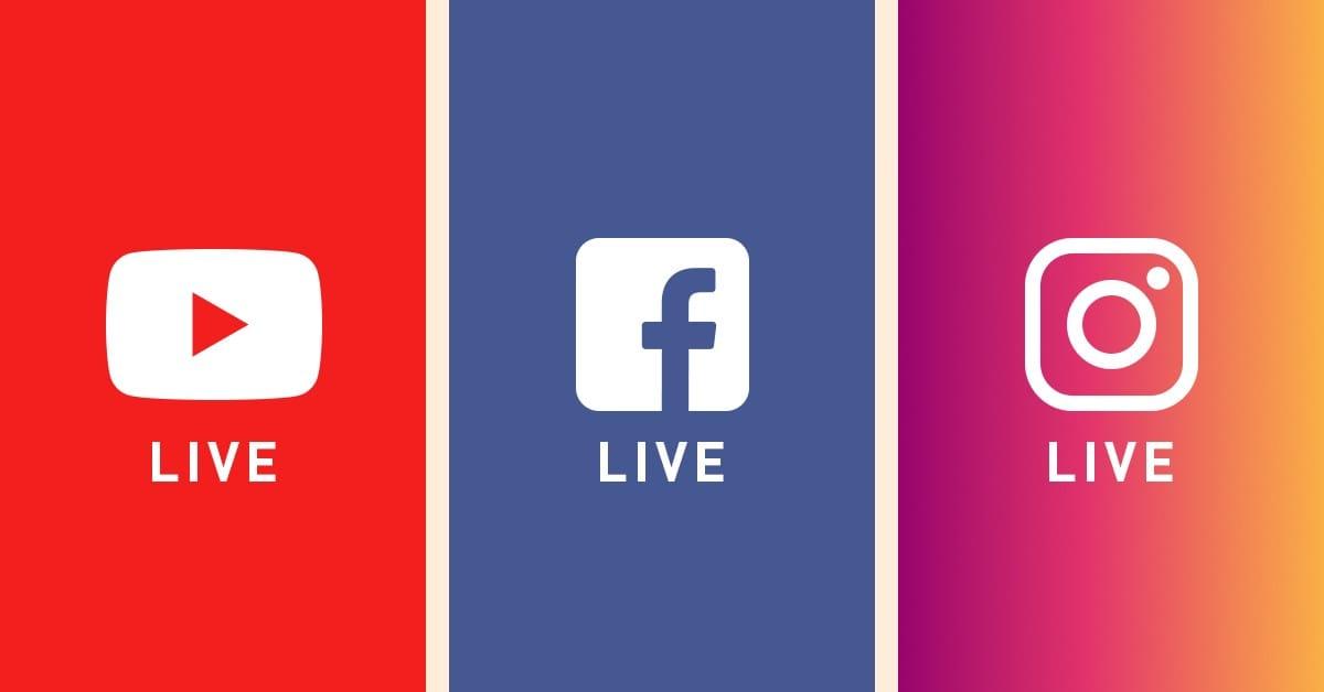 Kafelki z Youtube, Facebook oraz Instagram