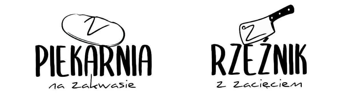 logotypy piekarni i masarni