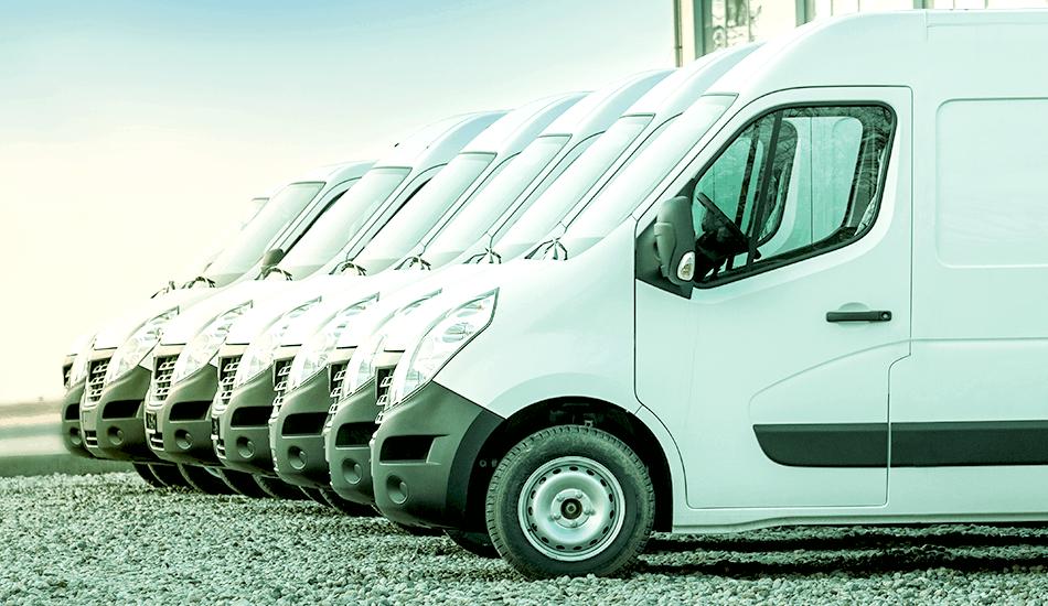 flota samochodów dostawczych
