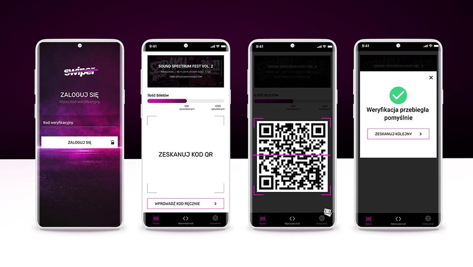 aplikacja mobilna swiper