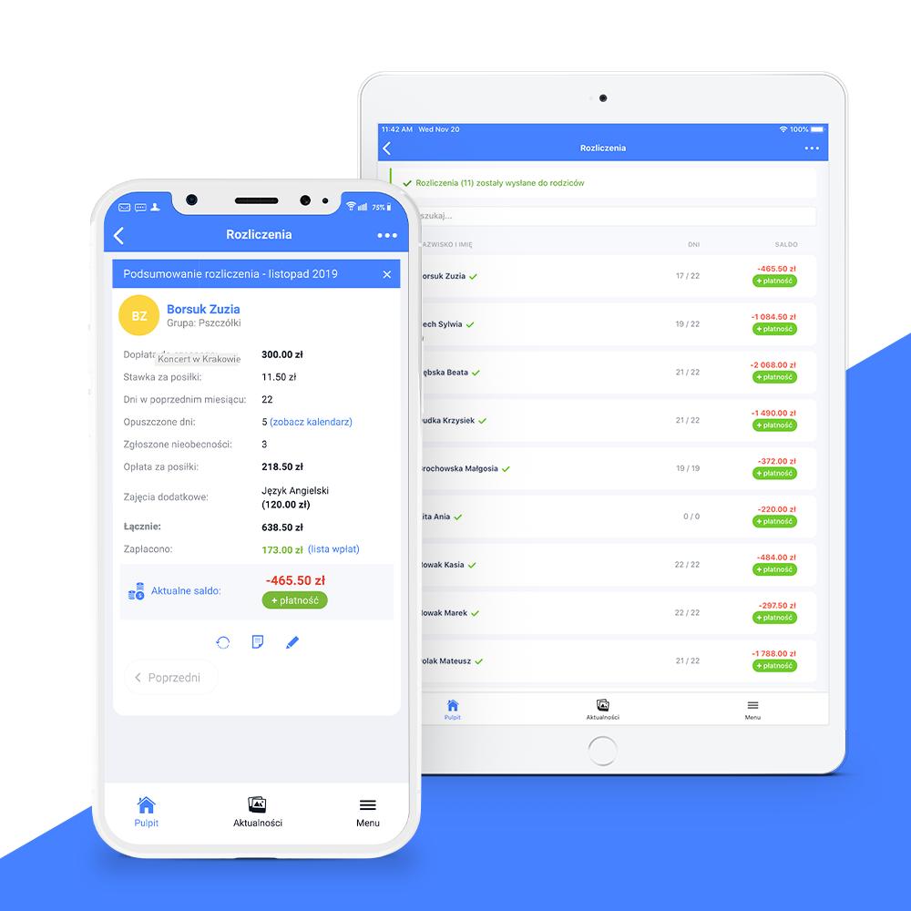 lista płatności w aplikacji